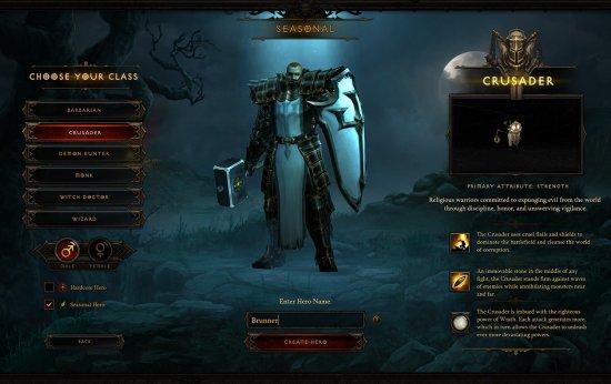 Diablo 3 character generation