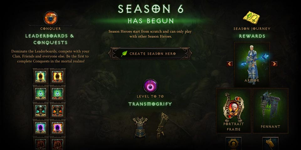 Season 6 rewards