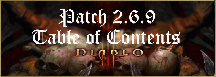 PTR 2.6.9 table of contents