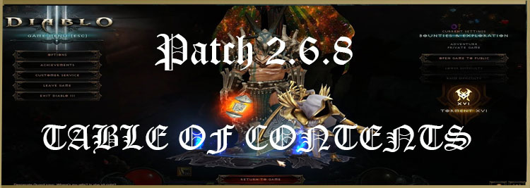 Patch 2.6.8 table of contents