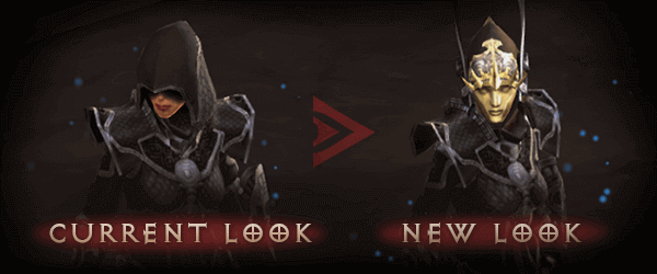 Diablo III Season 16 old look and new look