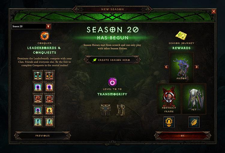 Season 20 has started