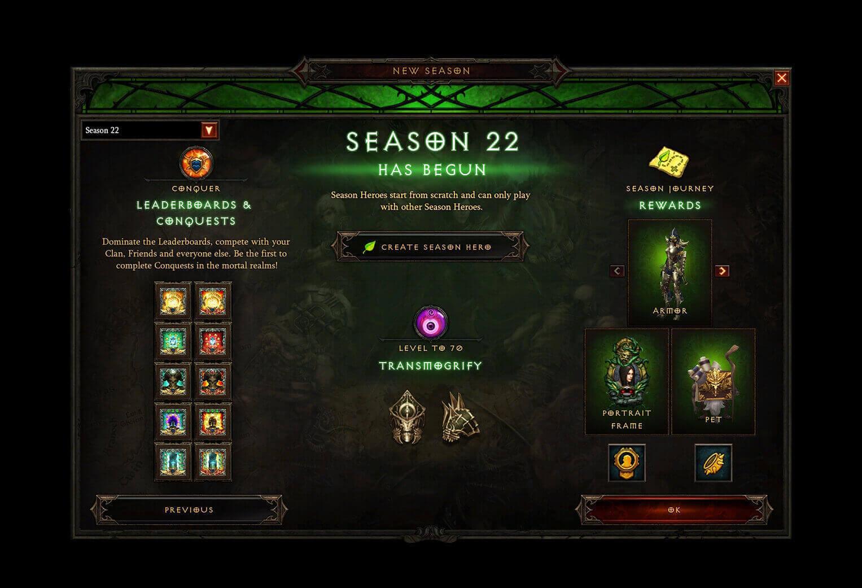 Season 22 Shades of the Nephalem