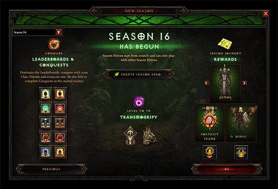 Diablo III Season 16 - season of Grandeur