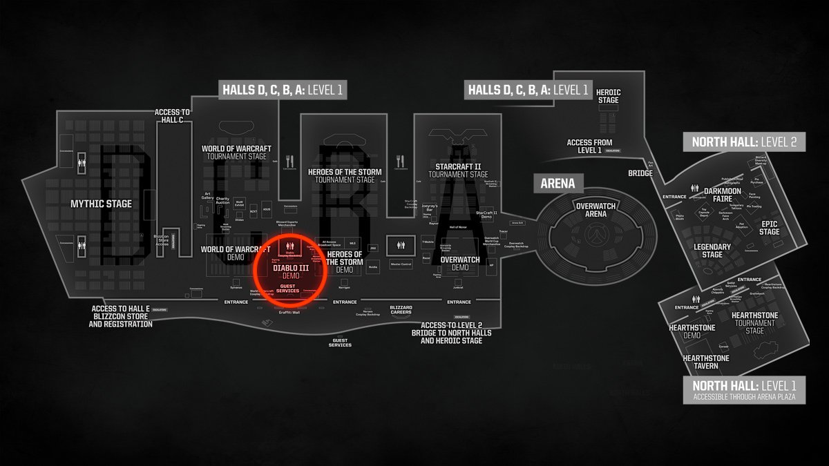 floor map of blizzcon 2017